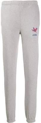 Heron Preston logo embroidered track pants grey