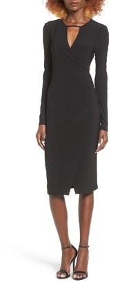 Women's Leith Keyhole Wrap Dress $59 thestylecure.com