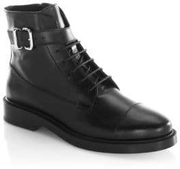 Tod's Buckle Leather Combat Boots
