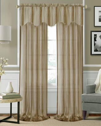 Elrene Enza Semi-Sheer Set Of 2 Window Curtain Panels