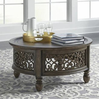 Astoria Grand Gandy Coffee Table with Tray Top Astoria Grand