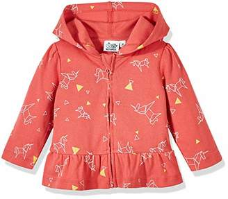 Silly Apples Baby Girls Cotton Blend Long-Sleeve Ruffle Hoodie Jacket (18M)