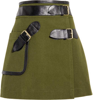 Derek Lam 10 Crosby Army Wrap Mini Skirt