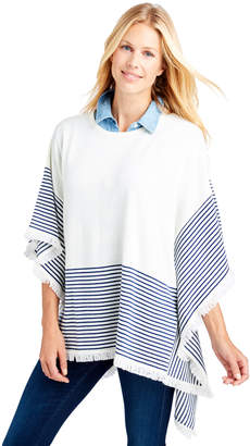Vineyard Vines Striped Sweater Poncho