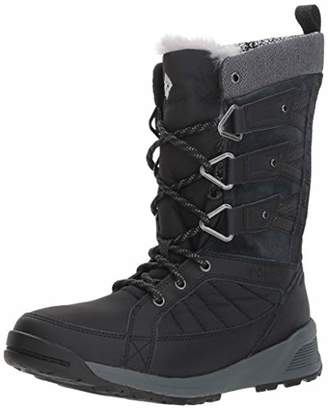 Columbia Women's Hiking Boots Waterproof, MEADOWS OMNI-HEAT 3D, Black (Black, Steam), Size: 7.5