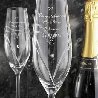 Swarovski Diamond Affair Personalised Diamante Flutes With Elements
