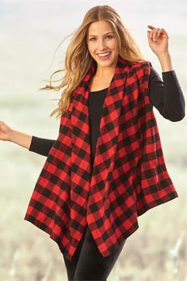 Paige Charlie Plaid Vest Xl/l