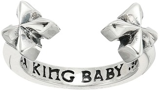 King Baby Studio - Open Ring w/ MB Crosses Ring $135 thestylecure.com