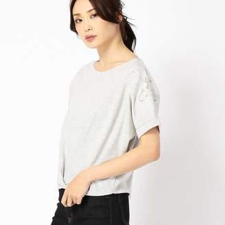 Comme Ca Ism (コムサイズム) - コムサイズム COMME CA ISM カットワーク刺繍 ショート丈Tシャツ
