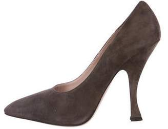 f8f5de4d945f Pre-Owned at TheRealReal · Miu Miu Suede Pointed-Toe Pumps