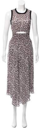 A.L.C. Silk Cutout Dress