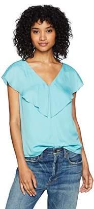 Ella Moon Women's Flounce Shoulder Wrap Ruffle Top