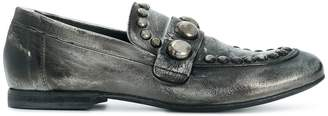 Strategia distressed studded loafers