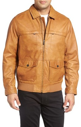 Men's Big & Tall Tommy Bahama 'Santiago' Lambskin Leather Aviator Jacket $800 thestylecure.com