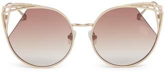 Cat Eye For Art's Sake 'Delta' cutout metal sunglasses