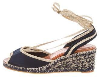 Marc Jacobs Satin Espadrille Wedges