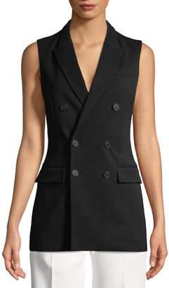 Givenchy Women's Notch Lapel Pocket Vest