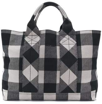 Tomas Maier chequer plaid beach bag
