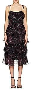 Barneys New York Women's Floral Ruffle Dress - Black