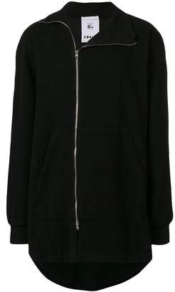 Lost & Found Rooms asymmetric zip jacket