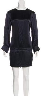 Stella McCartney Silk Long Sleeve Mini Dress