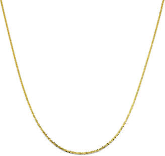PRIVATE BRAND FINE JEWELRY Made in Italy 18K Gold Over Sterling Silver Criss-Cross Chain Necklace