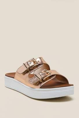 Mia Venessa Platform Slide Sandal - Rose/Gold