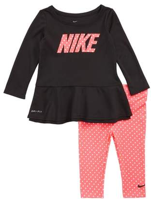 Nike Dri-FIT Peplum Tunic & Leggings Set