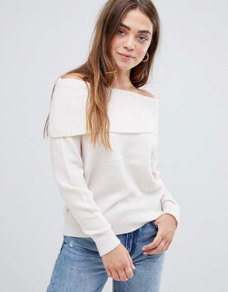 Asos (エイソス) - ASOS DESIGN off shoulder sweater in fluffy yarn