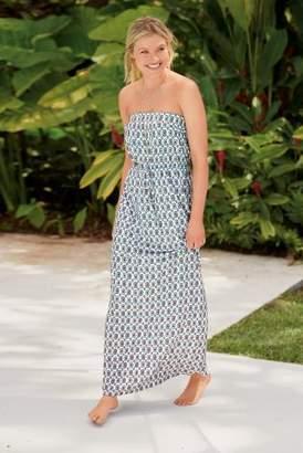 Next Womens White/Blue Geo Print Jersey Maxi Dress