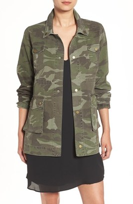 Women's Sincerely Jules 'Alexa' Camo Cotton Military Jacket $149 thestylecure.com