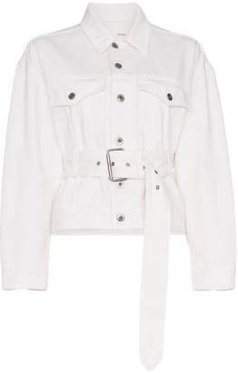 Proenza Schouler PSWL Belted Denim Jacket