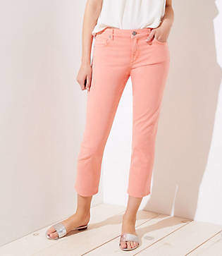 LOFT The Crop Jeans in Candied Papaya