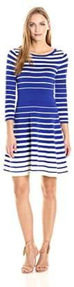 Milly Women's Degrade Stripe Flare Dress