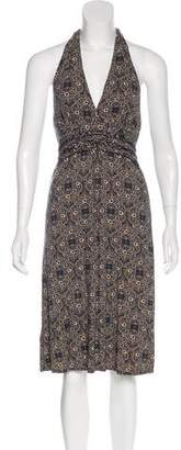 BCBGMAXAZRIA Sleeveless Halter Dress