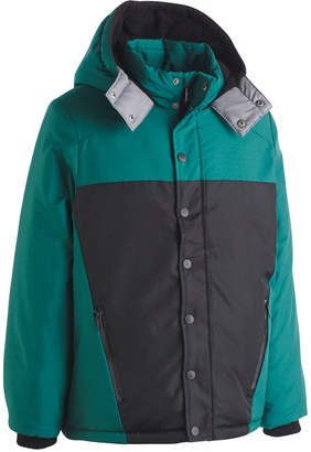 Calvin Klein Big Boys Peak Tech Colorblocked Hooded Jacket