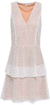 MICHAEL Michael Kors Tiered Embroidered Tulle Mini Dress