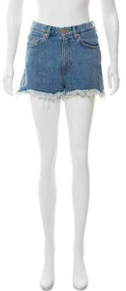 MiH Jeans Distressed Denim Shorts