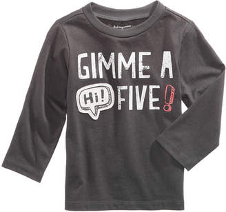 First Impressions Hi! Five-Print Cotton T-Shirt, Baby Boys, Created for Macy's