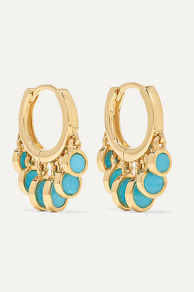 Jacquie Aiche 14-karat Gold Turquoise Hoop Earrings