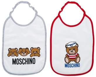 Moschino Kids teddy bear print bib set