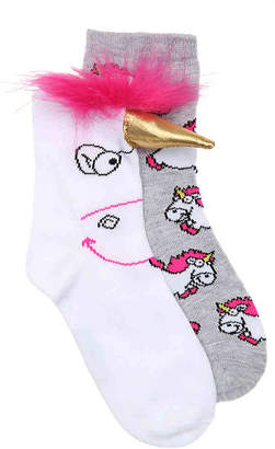 High Point Design Despicable Me Unicorn Toddler & Youth Crew Socks - 2 Pack - Girl's