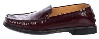 Tod's Patent Leather Square-Toe Loafers
