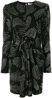 Saint Laurent glitter spot mini dress