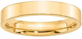Generic 10KY 4mm Standard Flat Comfort Fit Band Size 7