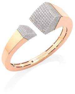 Roberto Coin Sauvage Prive Pave Diamond& 18K Rose Gold Bangle