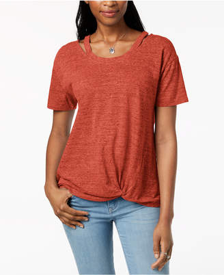 Style&Co. Style & Co Cutout High-Low T-Shirt