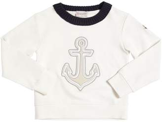 Moncler Anchor Patch Cotton Sweatshirt