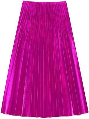 Metallic leather plissé skirt $3,400 thestylecure.com