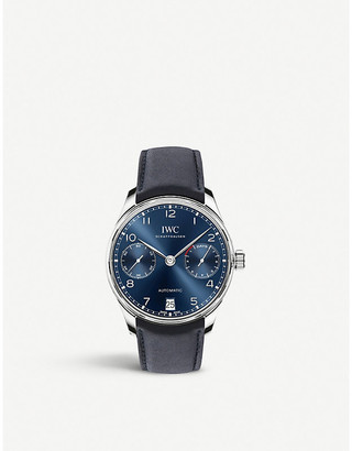 IWC IW500710 Portugeiser stainless steel chronograph watch
